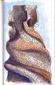 Aquarel·la i tinta.   Acuarela y tinta.   Ink and watercolour.