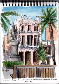 Monument Pi i Roca, 1r Sketchcrawl Dibuixem Badalona